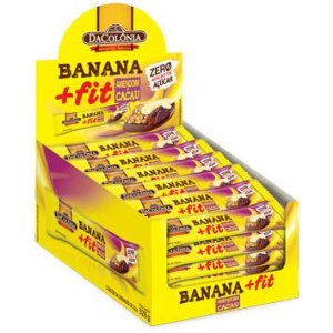 Display Banana+Fit Amendoim e Cacau Zero 528g C/24un DaColônia