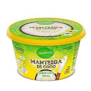 Manteiga de Coco sabor Coco sem sal 200g QualiCôco
