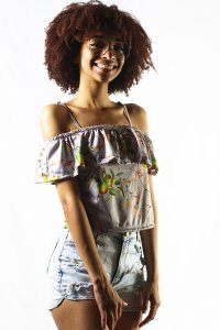 BLUSA CIGANINHA TROPICAL APPLE