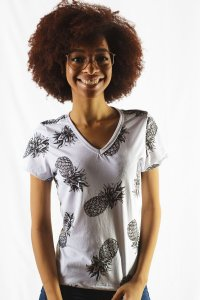 BLUSINHA FEMININA TROPICAL PINEAPPLE