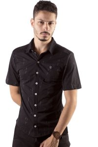CAMISA MASCULINA ESTAMPADA DUBLE BUQUE