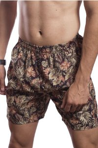 SHORTS TACTEL MASCULINO ESTAMPADO TOP GREENERY