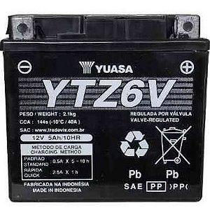 Bateria Yuasa YTZ6V| 12V - 5Ah| CG 150 Titan| NX 150 Bros| CG 125| XRE 300| YBR 125 Factor