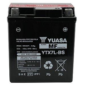 Bateria Yuasa YTX7L-BS, 12V, 6Ah, Twister, Tornado, Falcon, Hornet, Lead, CB300, Fazer250