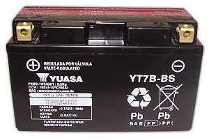 Bateria Yuasa YT7B-BS, 12V, 6,5Ah, TTR250, YP250 Majestic, Daytona675, KLX400R, DRZ-400