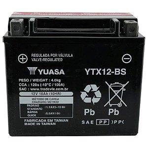 Bateria Yuasa YTX12-BS, 12V, 10Ah, VFR750, TDM800, GSX-R 1100W, VN900, Vulcan 900