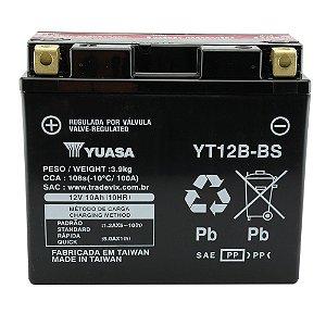 Bateria Yuasa YT12B-BS 12V 10Ah Drag Star 650, Hypermotard, Scambler, Monster, YZF-R, ZX-10R
