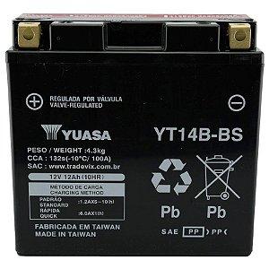 Bateria Yuasa YT14B-BS, 12V, 12Ah, FZS1000, BT1100, XV19SV, XVS1100 Drag Star, FJR1300