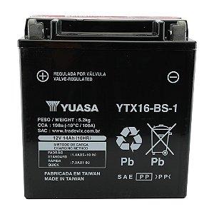 Bateria Yuasa YTX16-BS-1, 12V, 14Ah, VS 1400/1450 GL Intruder, VL 1500 Intruder, Boulevard
