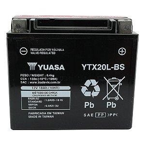 Bateria Yuasa YTX20L-BS, 12V, 18Ah, Deluxe, Dyna, Tiger 1215, Fat Boy, XVZ1300, Jet Ski Kawasaki