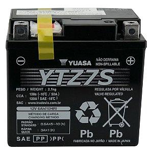 Bateria Yuasa YTZ7S | 12V, 6Ah, XR 230, CRF 450 X, CB 600 SF, CBR 1000 RR, XT 225, XG 250, WR 450 F