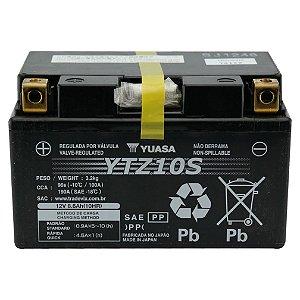 Bateria Yuasa YTZ10S |12V - 8,6Ah| CBR900, CBR925, CBR945, CB400SS. Silver Wing 400, CBR600F. Yamaha YZF-R1S, R1LEV. BMW S1000RR. KTM 690 Duke, Enduro R, Supermoto