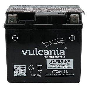 Bateria Vulcania YTZ6V-BS|12V - 5Ah| CG 150 Titan| CG 150 Fan| NX 150 Bros| CG 125| XRE 300| YBR 125 Factor