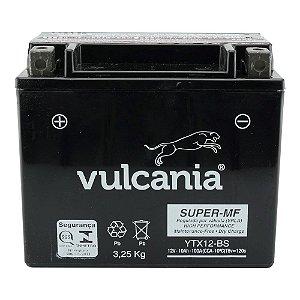 Bateria Vulcania YTX12-BS |12V - 10Ah| Shadow 750, VFR 750 F, TDM 800, BD, DC, GSX-R 1100W, VN.900, Vulcan 900