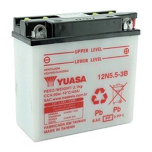 Bateria Yuasa 12N5.5-3B, 12V, 5,5Ah, YBR 125, RD 125, RDZ 125, RD 135, RDZ 135, RD 350