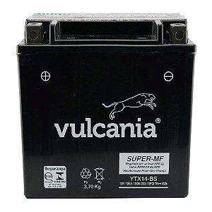 Bateria Vulcania YTX14-BS |12V - 12Ah| VT750 ST1100A GL1500 Valkyrie Quadriciclo TRX300/350/400 DR800S FZR1000 FJ1200A