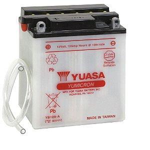 Bateria Yuasa YB12A-A, 12V, 12Ah, Honda CB 400, CB 450 SR, CB 500, CB 650