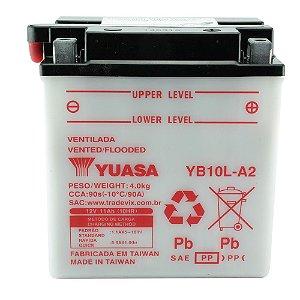 Bateria Yuasa YB10L-A2, 12V, 11Ah, Intruder 250, GS 500, XV 250, Z 250 A/C/J