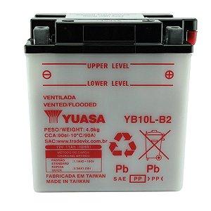 Bateria Yuasa YB10L-B2, 12V, 11Ah, Suzuki GS 500 E/EU (89/00), Kawasaki GSX 600 F Katana (88/97)