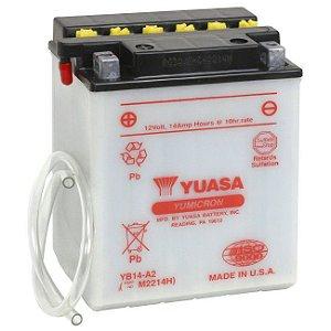 Bateria Yuasa YB14-A2, 12V, 14Ah, Honda CBX 750 F (84/86), CB 750, CBF 1000 importada (84/95)