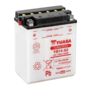 Bateria Yuasa YB14-A2 |12V - 14Ah| Honda CBX750F (84/95), CBF1000 importada (84/95)