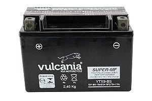 Bateria Vulcania YTX9-BS 12V 8Ah VZ400 Burgman, CB500, XTZ660, CB600, VT600, CBR900, XJ/XT600