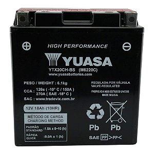 Bateria Yuasa YTX20CH-BS |12V - 18Ah| XL1000V Varadero | Kawasaki ZR1100 |VZ1500 Boulevard | VN1500-P Vulcan Mean Streak | 1500 VN1500-G, J, L, R Vulcan Nomad, Drifter