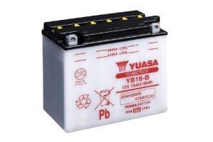 Bateria Yuasa YB16-B, 12V, 19Ah, Harley-Davidson XL XLH Sportster Series 883/1000/1100/1200/1340