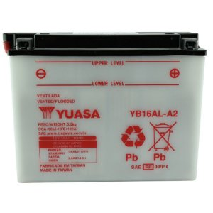 Bateria Yuasa YB16AL-A2, 12V, 16Ah, XV 700B, VMX 1200B, XV 700 virago, Ducati ST2