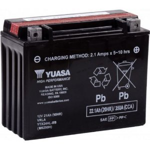 Bateria Yuasa YTX24HL-BS, 12V, 21Ah, Can-Am Spyder 990 / 1330, Harley 1340 Touring, Can-Am 650