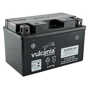Bateria Vulcania YTZ10S-BS | 12V - 8,6Ah | CB 400 | CBR 600RR | CBR 1000RA | MT07 | YZF-R1 | ZX10R