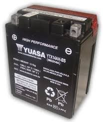 Bateria Yuasa YTX14AH-BS |12V - 12Ah| CB750, VT700/800C Shadow, Indian 1133 Scout 2015, Quadriciclo