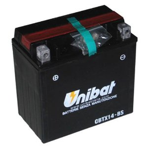 Bateria Unibat CBTX14-BS, 12V, 12Ah, VT750, ST1100, Tiger, Speed Triple, ZX-11 Ninja, FourTrax