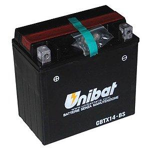 Bateria Unibat CBTX14-BS |12V - 12Ah| VT750| ST1100| GL1500| DR800| FZR1000| Fourtrax