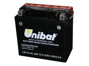 Bateria Unibat CBTX14L-BS |12V - 12Ah| Harley Davidson XL XLH Sportster 883cc e 1200cc