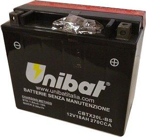 Bateria Unibat CBTX20L-BS |12V - 18Ah| Yamaha XVZ1300 | Harley Davidson FLST | Kawasaki Jet Ski