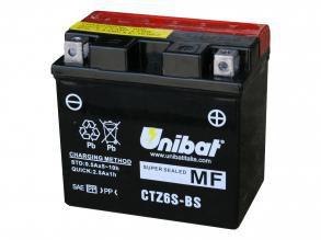 Bateria Unibat CTZ6S-BS, 12V, 5Ah, CG150 Titan, YBR125 Factor, NX150 Bros, XRE300, CRF230F