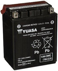 Bateria Yuasa YTX14AH-BS 12Ah CB750, Indian 1133 Scout, VT800C Shadow, VN800 Vulcan