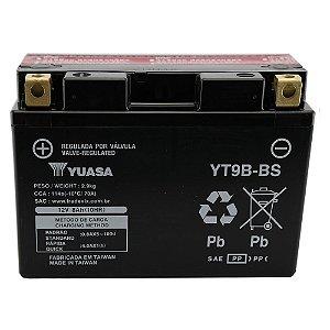 Bateria Yuasa YT9B-BS, YZF-R6, XT660X R Z Tenere, MT-03, YFM700 Raptor, Duke 690