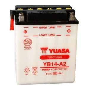 Bateria Yuasa YB14-A2 CBX 750 F Galo, CBF 1000 importada