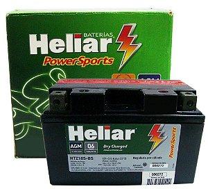 Bateria Heliar HTZ10S CB500 CBR600 CB1000R MT07 R1 S1000RR