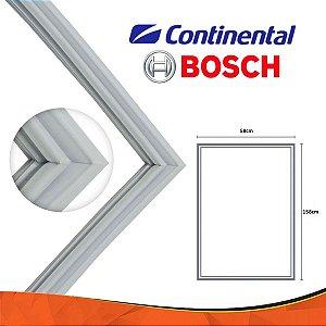 Gaxeta Borracha Porta Freezer Bosch 158x58 Encaixe Canaleta