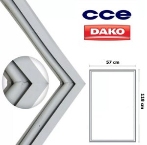 Gaxeta Borracha Porta Refrigerador Cce C35 Dako Redk37 118x57 Inferior