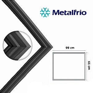 Gaxeta Borracha Porta Freezer Metalfrio Horizontal Da300 Da301 99x61 Canaleta