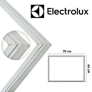 Gaxeta Borracha Porta Freezer Electrolux Horizontal H500 75x66 Canaleta