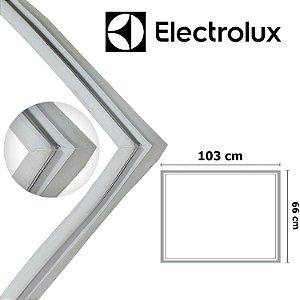 Gaxeta Borracha Porta Freezer Electrolux Horizontal H300 103x66 Canaleta