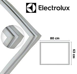 Gaxeta Borracha Porta Freezer Electrolux Horizontal H210 80x63 Canaleta