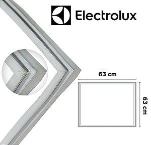 Gaxeta Borracha Porta Freezer Electrolux Horizontal H150 H160 63x63 Canaleta