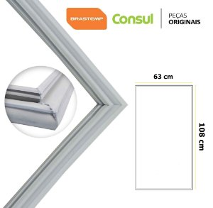 Gaxeta Borracha Porta Refrigerador Consul Crm44d 108x63 Canaleta