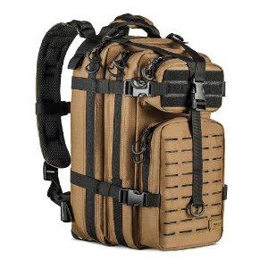 MOCHILA ASSAULT LASER CUT - COYOTE/PRETO